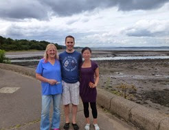 cramond me with Louise and jeremy