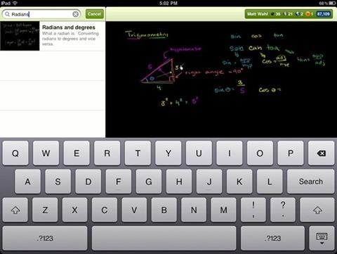 KhanAcademy para iPad