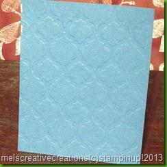 modern mosiac blue