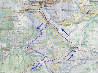 carta IGA Monte Fumaiolo e Monte Comero