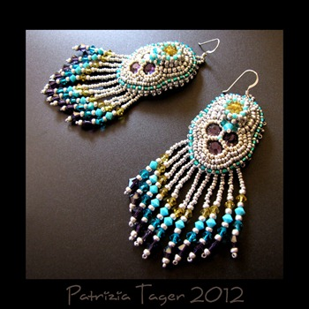 Peacock earrings 01