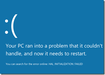 Fix HAL_INITIALIZATION_FAILED Error Message Installing Windows 8
