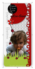 invitation bapteme coccinelle zazzle recto