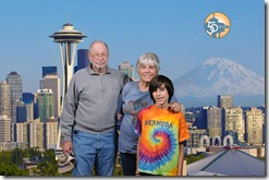 space needle family photo