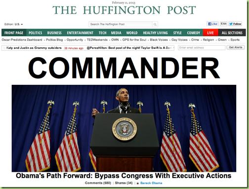 huffpo such a commander