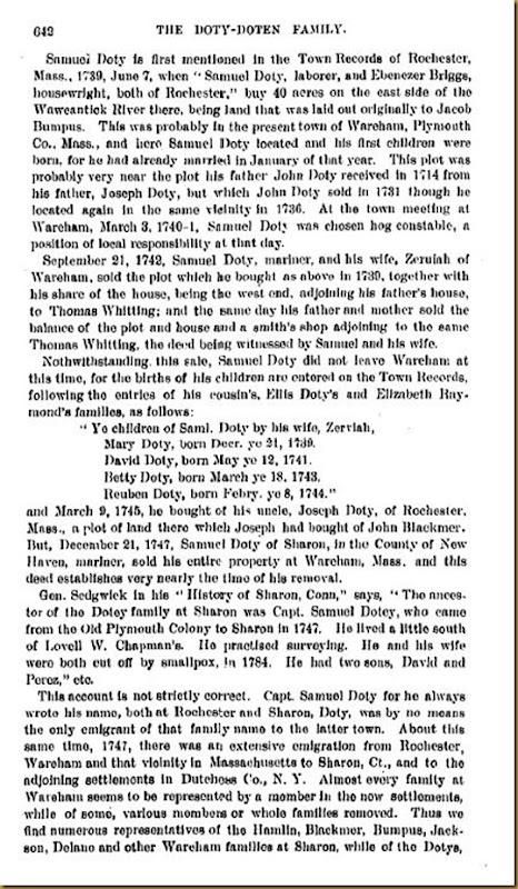 Doty-Doten Family In America-The Family of Joseph Doty17
