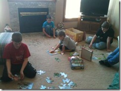 boys and puzzles