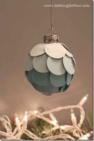 DIY Ombre Ornament from Setting for Four #diy #tutorial #ombre #ornament #paint # christmas