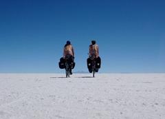 Honeymooning on the Salar de Uyuni.