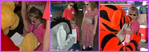 Meeting Pooh, Eeyore, and Tigger
