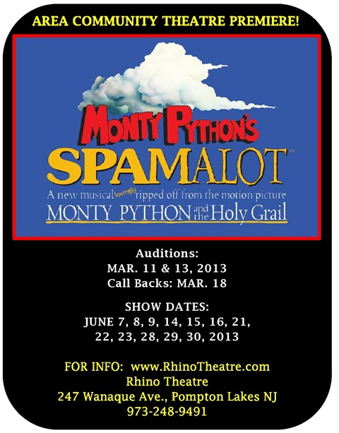 SPAMALOT AUDITIONS
