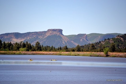 Summit Lake with Mesa Verde in the background