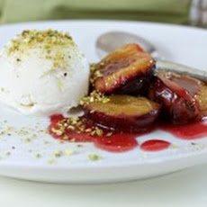 Roasted Plums with Cognac