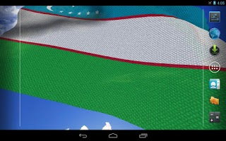 Screenshot of 3D Uzbekistan Flag LWP