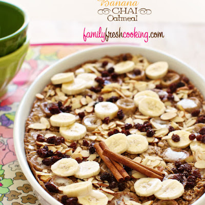 Roasted Banana Chai Oatmeal