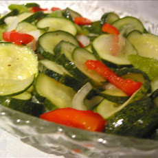 Crisp Cucumber Freezer Pickles