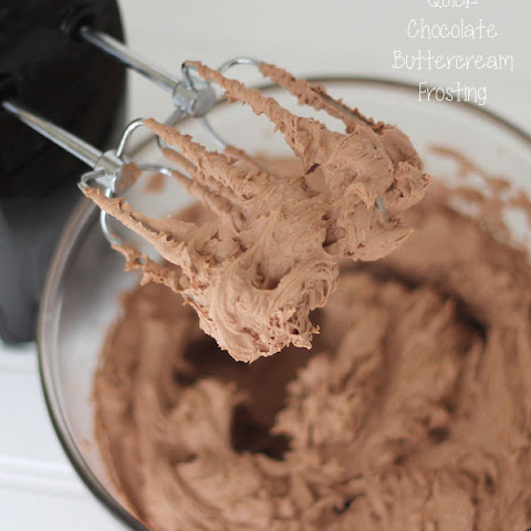 Quick Chocolate Buttercream Frosting