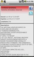 Screenshot of Active Alerts - Weather Alerts