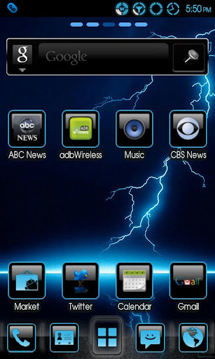 Theme Blue Lightning