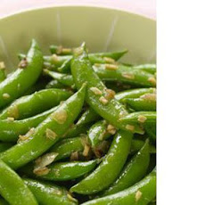 Sugar Snap Peas With Fried Ginger