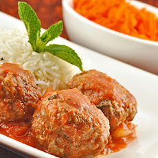 Moroccan Style Lamb Meatballs in Tomato Sauce