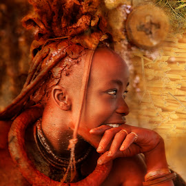 Himba Maiden by Bernyce Hollingworth - Digital Art People ( tribe, art, maiden, himba, namibia )