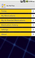 Screenshot of RX Pal Medication Reminder