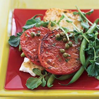 Pan-Grilled Tomato and Feta Salad with Lemon-Caper Dressing