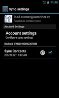 Screenshot of UberSync Facebook Contact Sync
