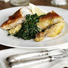 Guinea Fowl With Polenta & Chard