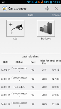 Car Expenses APK screenshot thumbnail 8