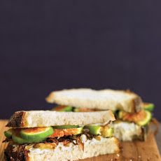 Fig, Goat Cheese, and Caramelized Onion Sandwiches