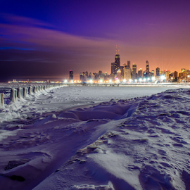 Fullerton Ave @ -10 Below by Nick Sinnott - City,  Street & Park  Skylines ( winter, dawn/dusk, 2014, d7100, cityscape, chicago, landscape, fullerton ave )
