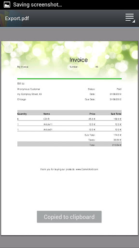 My Invoices free