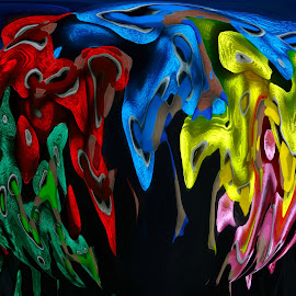Colours by Asif Bora - Digital Art Abstract