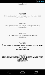 Fonts for FlipFont 125 - screenshot
