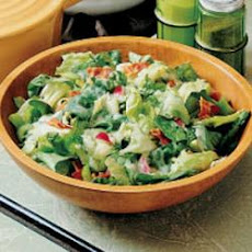 Greens with Hot Bacon Dressing