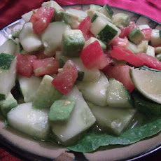 Cucumber Tomato Surprise Salad (Raw Recipe)