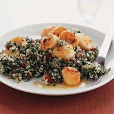 Tabbouleh with Lemony Scallops