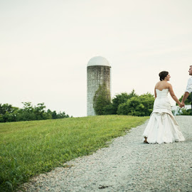 K&S by Julie Steinberg - Wedding Bride & Groom ( farm, wedding, bride, groom, silo, Wedding, Weddings, Marriage )