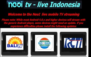 Screenshot of Indonesia TV Live Channels