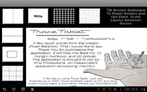 Trace Tablet