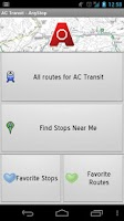 Screenshot of AC Transit: AnyStop