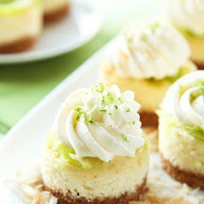 Mini Coconut Lime Cheesecakes