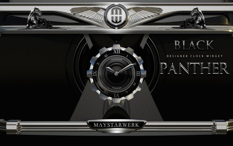Clock Widget Black Panther Screenshot 3