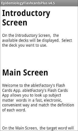 Epidemiology Flashcards Plus - screenshot