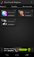 Screenshot of Siren Sounds and Ringtones