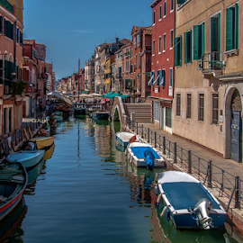 United Colors! by Jesus Giraldo - City,  Street & Park  Historic Districts ( reflection, hdr, colors, boats, venice, city )
