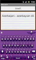 Screenshot of SlideIT Azerbaijani Pack