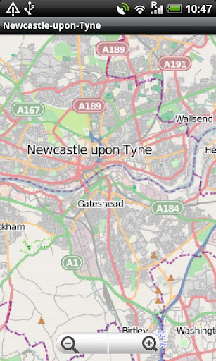 Newcastle-upon-Tyne Street Map